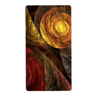 The Spiral of Life Abstract Art Fractal Shipping Label