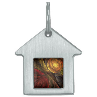 The Spiral of Life Abstract Art House Pet Tag