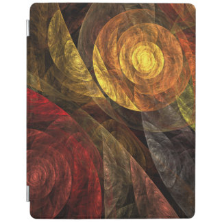 The Spiral of Life Abstract Art iPad Cover