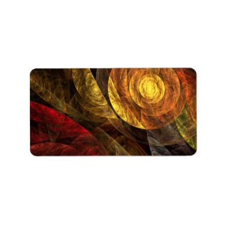 The Spiral of Life Abstract Art Custom Address Labels