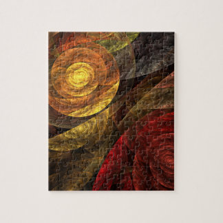 The Spiral of Life Abstract Art Puzzle