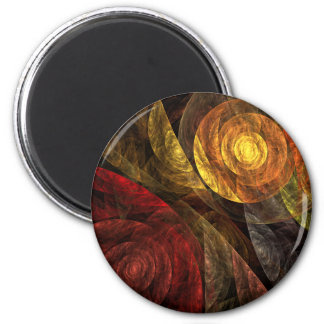 The Spiral of Life Abstract Art Round Magnet