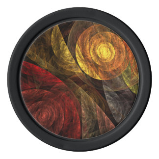 The Spiral of Life Abstract Art Set Of Poker Chips