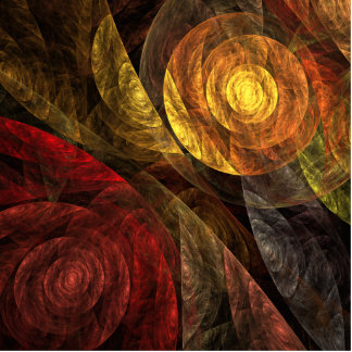 The Spiral of Life Abstract Art Standing Photo Sculpture
