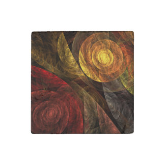 The Spiral of Life Abstract Art Stone Magnets