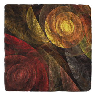 The Spiral of Life Abstract Art Stone Trivet