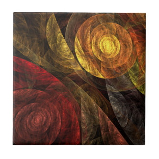 The Spiral of Life Abstract Art Tile