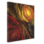 The Spiral of Life Abstract Wrapped Canvas Print