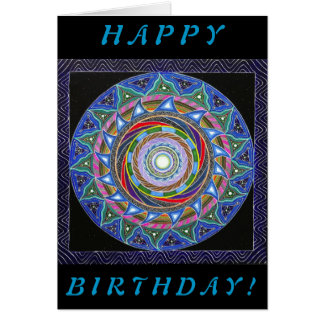 The Spiraling Vortex (Birthday Card) Card