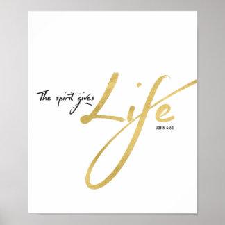 The Spirit Gives Life Art Print