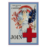 The Spirit of America ~ Vintage Nurse Poster