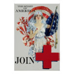 The Spirit of America ~ Vintage Nurse. Poster