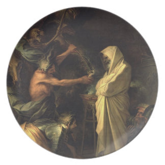 The Spirit of Samuel appearing to Saul at the hous Party Plates