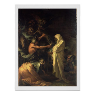 The Spirit of Samuel appearing to Saul at the hous Poster