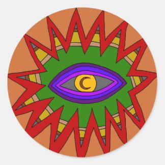 The Spiritual Atom Classic Round Sticker