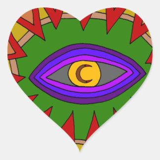 The Spiritual Atom Heart Sticker