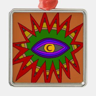 The Spiritual Atom Metal Ornament