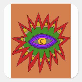 The Spiritual Atom Square Sticker