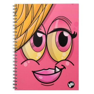 The Splashis- Magenta-Notebook with spiral Spiral Notebook