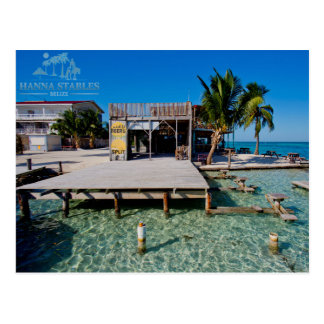 The Split at Caye Caulker, Belize Postcard