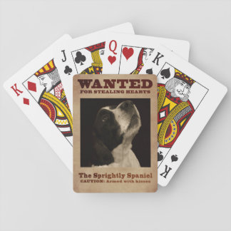 The Sprightly Springer Spaniel Playing Cards