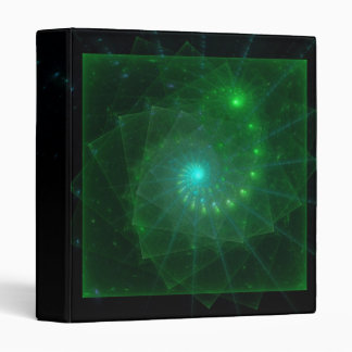 """The Square Green Worm"" Fractal Art Binders"