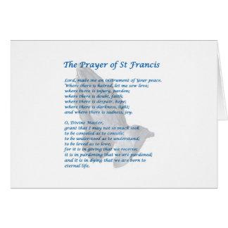 The St Francis Prayer Greeting Card