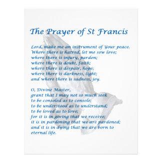 The St Francis Prayer Letterhead Template