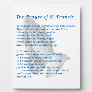 The St Francis Prayer Plaque