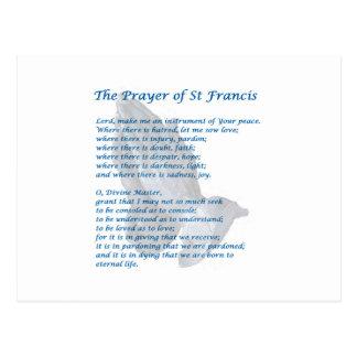 The St Francis Prayer Postcard