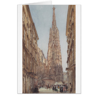 The St. Stephen's Cathedral in Vienna by Rudolf vo Card