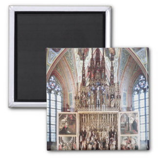 The St. Wolfgang Altarpiece  1471-81 Square Magnet