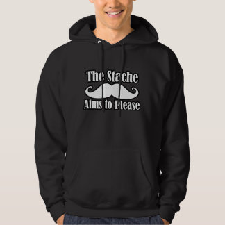 The Stache Aims to Please in  Hoodie