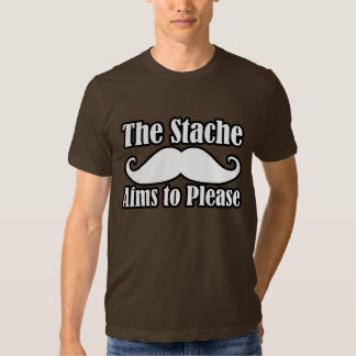 The Stache Aims to Please in Tshirts
