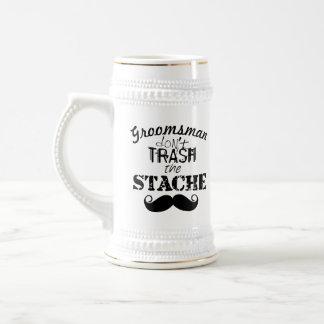 The Stache Moustache Pattern Beer Stein