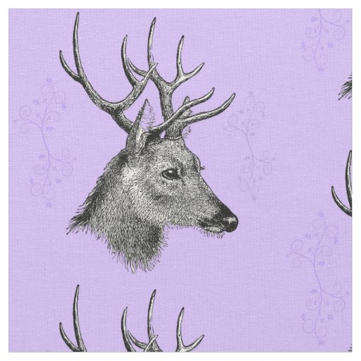 The Stag Head Fabric