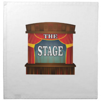the stage goes on napkin