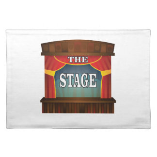 the stage goes on placemat