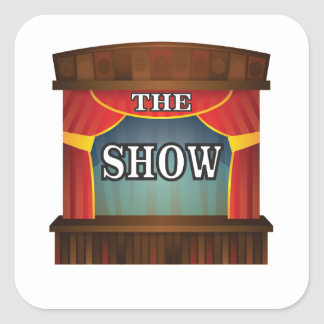 the stage show square sticker