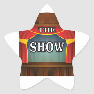 the stage show star sticker