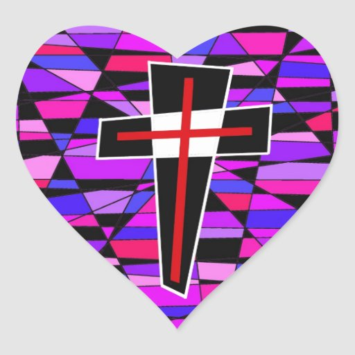 The Stained Glass Cross. Stickers