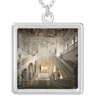 The staircase, built 1719-44 silver plated necklace