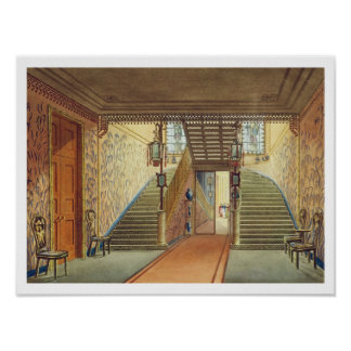 The Staircase, from Views of the Royal Pavilion, B Poster