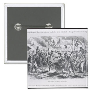 The Stamp Act Riots at Boston 2 Inch Square Button