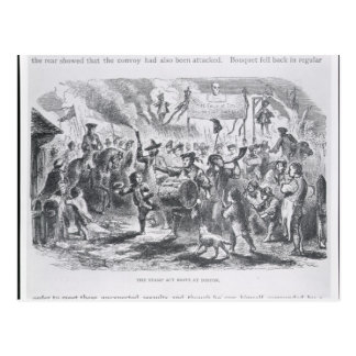 The Stamp Act Riots at Boston Postcard