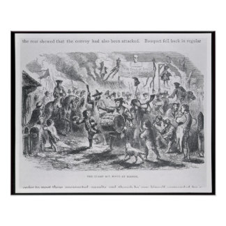The Stamp Act Riots at Boston Poster