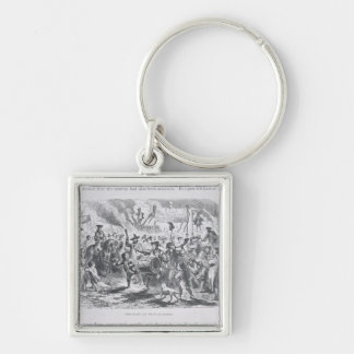 The Stamp Act Riots at Boston Silver-Colored Square Keychain
