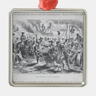 The Stamp Act Riots at Boston Silver-Colored Square Ornament