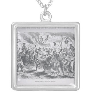 The Stamp Act Riots at Boston Silver Plated Necklace