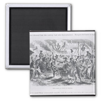 The Stamp Act Riots at Boston Square Magnet